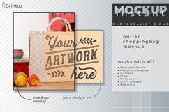 Instant mockup Burlap shopping bag, tote bag, jute bag Product Image 2