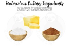 Baking Ingredients Watercolour Clipart Product Image 4