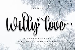 Willy Love | Sweet Handwritten Font Product Image 1