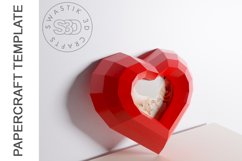 PDF Template of heart with image /Gift heart Papercraft Product Image 3