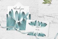 Blue foliage clipart Set Watercolor border Product Image 4