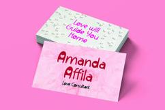 Web Font Lovable - Sweet Valentine Font Product Image 3