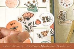 Botanical Printable Stickers | Cricut Design Sticker Sheet Product Image 3