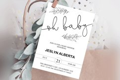 Baby Shower Invitation, Baby Shower, Invitations Template Product Image 1
