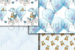 Baby Boy Paper Pack Blue Seamless Pattern New Baby Cute Set Product Image 4