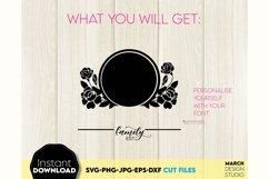 Monogram SVG File, Family Monogram SVG, Floral monogram SVG Product Image 3