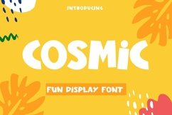 Web Font Cosmic - Fun Display Font Product Image 1