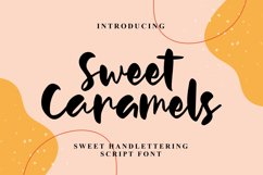 Sweet Caramels - Handlettering Script Font Product Image 1