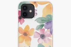 Watercolor flowers seamless pattern Colorful flowers clipart Product Image 11