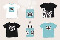 Raccoon Pattern. Raccoon T Shirt Print. Raccoon Clipart. Product Image 2