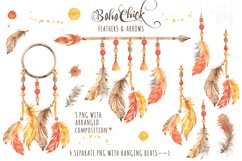 Boho Chick Watercolor Cliparts Product Image 5
