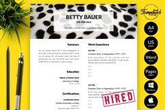Animal Care Resume CV Template for Word & Pages Betty Bauer Product Image 1