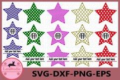 Stars SVG Files, Stars Svg, Dxf, Png,Ai File, Stars Monogram Product Image 1