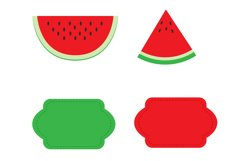 Watermelon Digital Paper, Fruits Background. Product Image 4