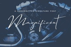 Magnificent Font   Product Image 1
