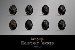 Easter black eggs. Kintsugi effect Product Image 1