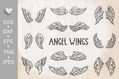 Wings bundle svg. Angel wings clipart. Fairy wings cut files Product Image 1