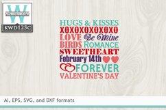 Valentines SVG - Subway Art Product Image 2