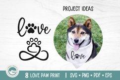 Paw Print SVG Cut Files - Love Dog Paw SVG Bundle Product Image 3