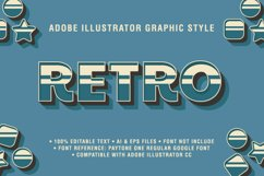 5 Retro Text Effect Graphic Styles Vector Product Image 6