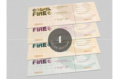 Gospel Fire Ticket Template Product Image 2