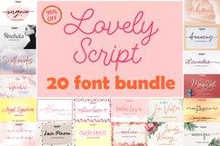 Lovely Script Font Bundle Product Image 1