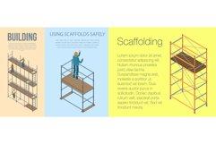 Scaffolding banner set, isometric style Product Image 1