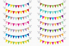 Bunting Banners Clipart / Party Bunting, Banner Clipart Product Image 1