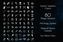 Esoteric Symbols Clipart. Spiritual Sacred Magic Elements Product Image 5