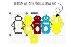 Robot Easter egg holder design SVG / DXF / EPS files. Product Image 2