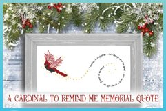 Cardinal To Remind Me Memorial Quote SVG Product Image 3