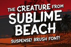 Sublime Beach Brush Font Product Image 1
