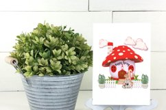 Spring Garden Gnome Colorful Mushroom Homes PNG Designs Product Image 2