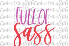 Full of Sass SVG Product Image 1