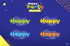 Web Font Happy Party Product Image 2