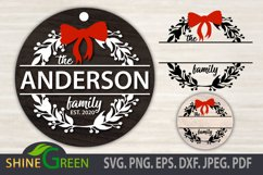 Christmas SVG - BEST SELLER Christmas Ornament SVG Monogram Product Image 1