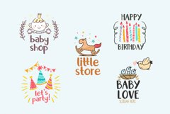 Little Santa Font | merry christmas font | 8 christmas cards Product Image 12
