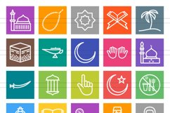 50 Islamic Line Multicolor B/G Icons Product Image 2