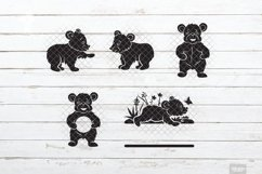 Baby Bear SVG Little Cub in SVG, DXF, PNG, JPEG Product Image 5