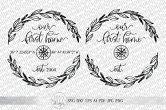 Our First Home SVG   Longitude Latitude SVG   Farmhouse Product Image 3