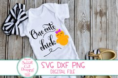 One Cute Chick SVG, Easter Girl SVG, Easter SVG,DXF,Girl SVG Product Image 2