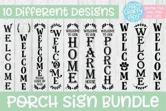 Porch Sign SVG DXF EPS PNG Cut File Bundle Product Image 1