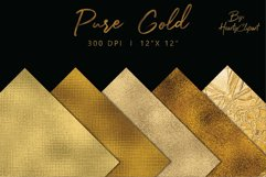 Gold foil digital papers Product Image 4