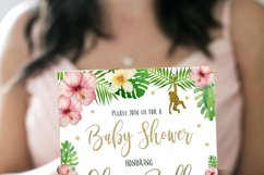 Jungle Gold Baby Shower Invitation Product Image 2