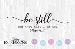 Be Still // SVG Design // Bible Verse Product Image 1