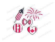 Canada Day CUTE DOLLS Independence Day Patriotic Girl - PNG Product Image 2