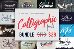 Calligraphic fonts Bundle Product Image 1