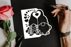 Papercut Romantic Gnome Couple with Hearts Card Cover Design Product Image 3