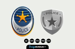 Police Badge Clipart Product Image 1