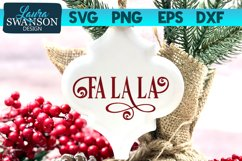Fa La La SVG Cut File   Christmas SVG Cut File Product Image 1